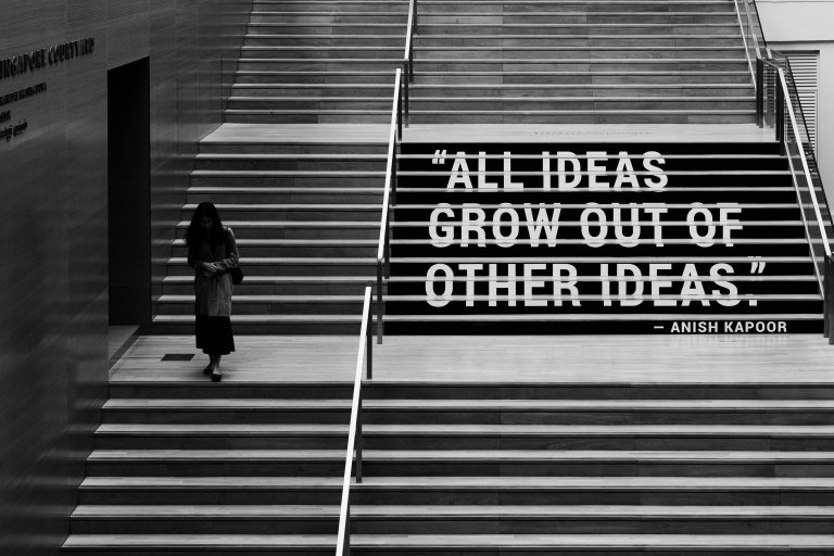 all ideas grow out of other ideas
