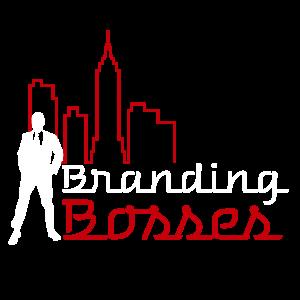 branding bosses logo white