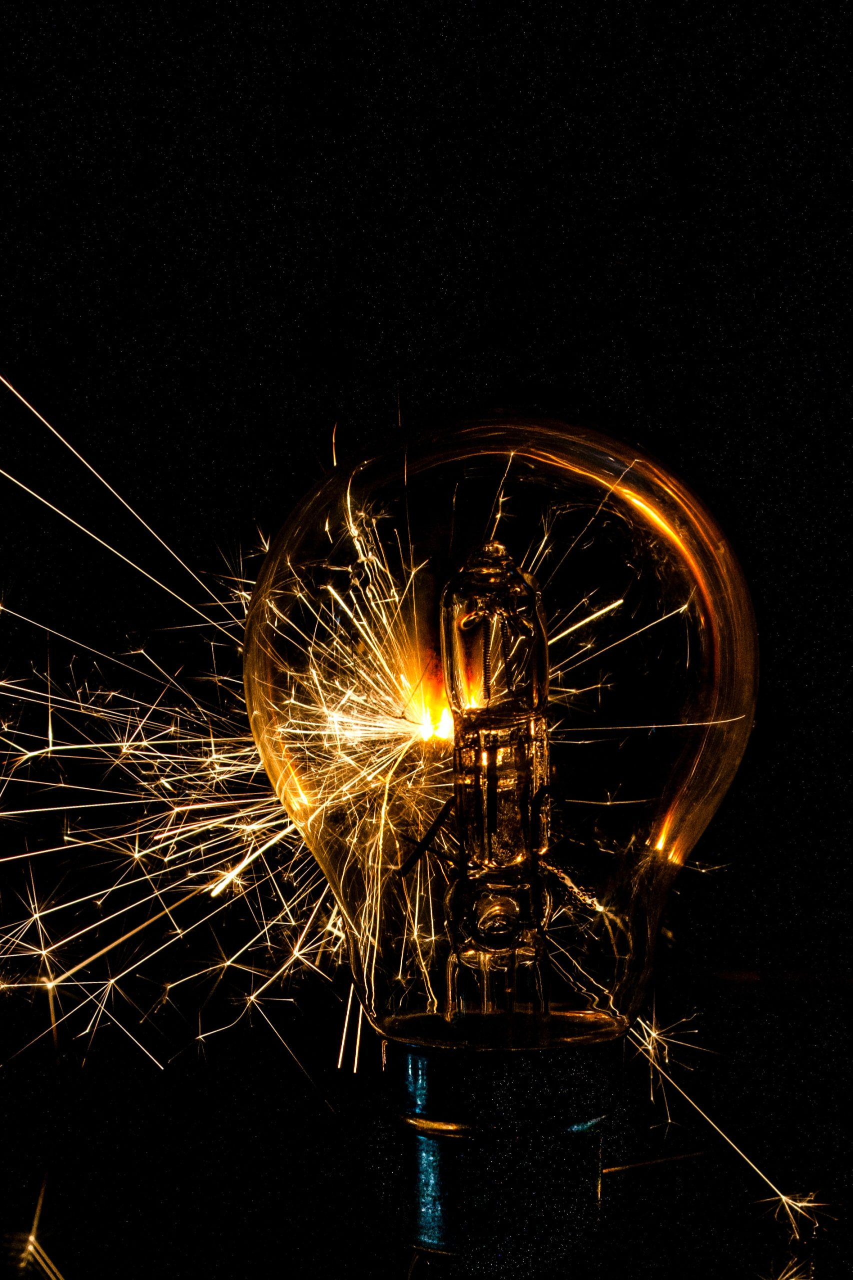 Light Bulb with Spark - Generate Creativity through Marketing